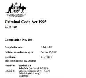 Criminal Code Act 1995
